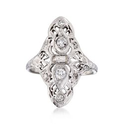 C. 1935 Vintage .37 ct. t.w. Diamond Dinner Ring in Platinum and 18kt Gold, , default