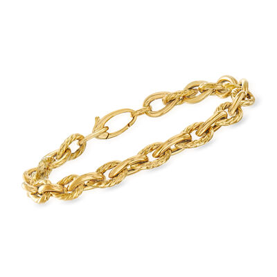 "Phillip Gavriel ""Italian Cable"" Cable-Link Bracelet in 14kt Yellow Gold"