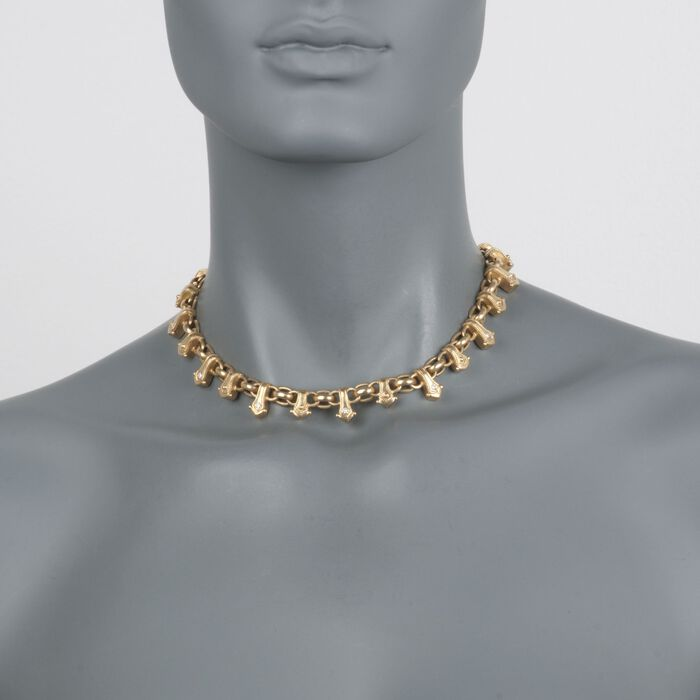 """C. 2000 Vintage Penny Preville .25 ct. t.w. Diamond Choker Necklace in 18kt Yellow Gold. 15"""" , , default"""