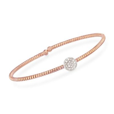 Simon G. .14 ct. t.w. Diamond Circle Bracelet in 18kt Rose Gold, , default