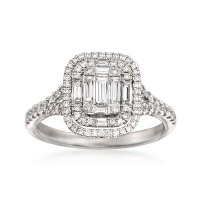 Simon G. .82 ct. t.w. Diamond Ring in 18kt White Gold, , default