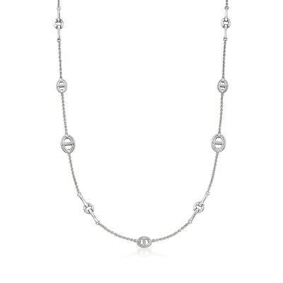 """Judith Ripka """"Vienna"""" Sterling Silver Chain-Link Necklace"""