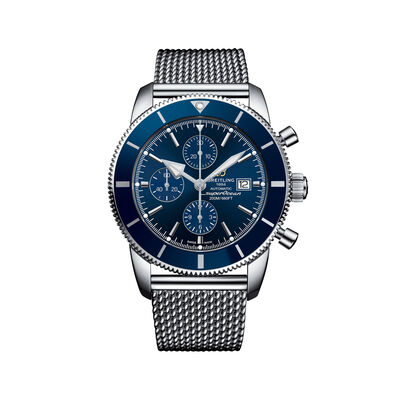 Breitling Superocean Heritage II Chronograph Men's 46mm Stainless Steel Watch - Blue Dial, , default
