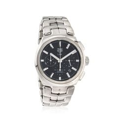TAG Heuer Link Men's 42mm Auto Chronograph Stainless Steel Watch - Black Dial, , default