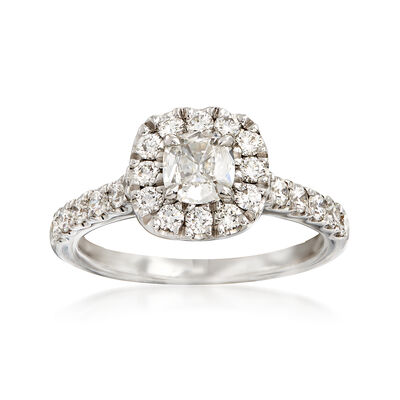 Henri Daussi 1.23 ct. t.w. Diamond Engagement Ring in 18kt White Gold, , default