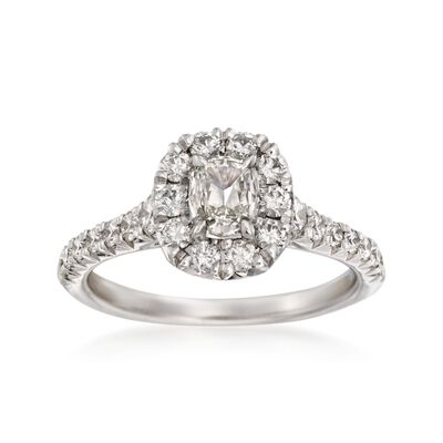 Henri Daussi 1.14 ct. t.w. Diamond Engagement Ring in 18kt White Gold, , default