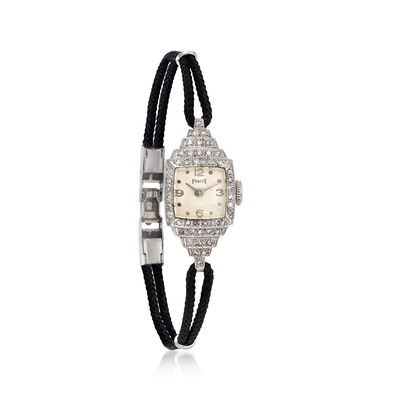 C. 1940 Vintage Piaget Women's Manual 13mm Watch in Platinum, , default