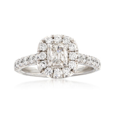 Henri Daussi 1.28 ct. t.w. Diamond Engagement Ring in 18kt White Gold