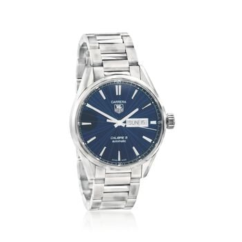 TAG Heuer Carrera Men's Automatic Stainless Steel Watch With Blue Dial, , default