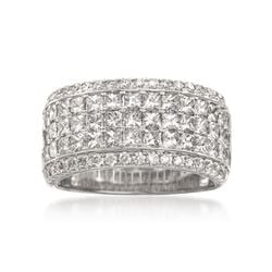 Simon G. 2.94 ct. t.w. Princess-Cut and Round Diamond Band Ring in 18kt White Gold, , default