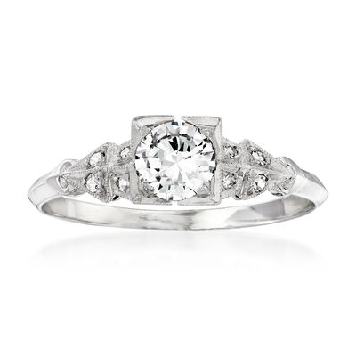 C. 1990 Vintage .58 ct. t.w. Diamond Ring in Platinum, , default