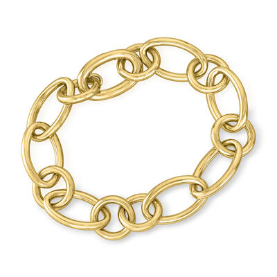 Roberto Coin 18kt Yellow Gold Oval and Round Link Bracelet