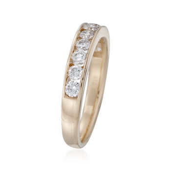 .75 ct. t.w. Channel-Set Diamond Wedding Ring in 14kt Yellow Gold