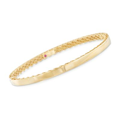 "Roberto Coin ""Symphony"" Golden Gate Bangle Bracelet in 18kt Yellow Gold, , default"