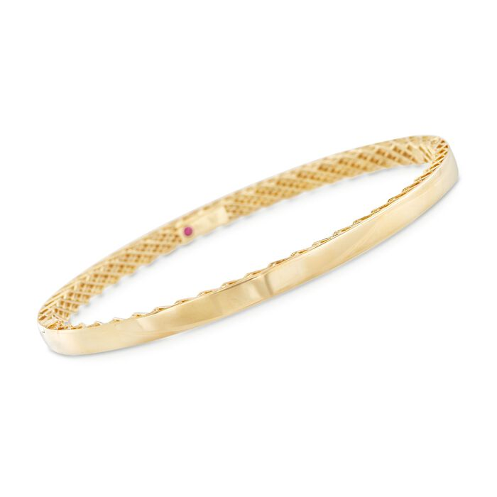 "Roberto Coin Symphony Golden Gate 18-Karat Yellow Gold Bangle. 7"", , default"