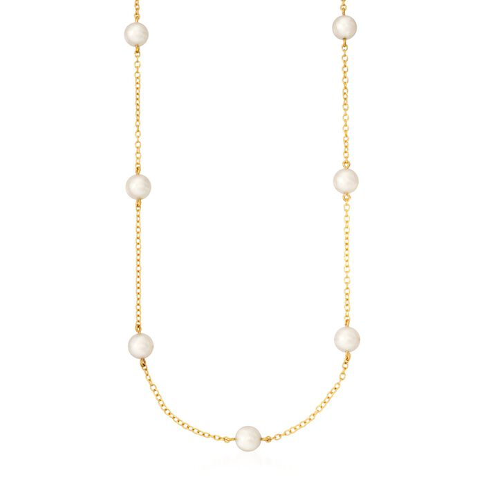 Mikimoto 5-5.5mm A+ Akoya Pearl Necklace in 18kt Yellow Gold, , default