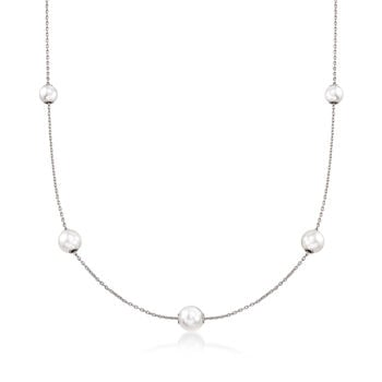 Mikimoto 7.5-5.5mm A+ Akoya Pearl Adjustable Necklace in 18-Karat White Gold, , default