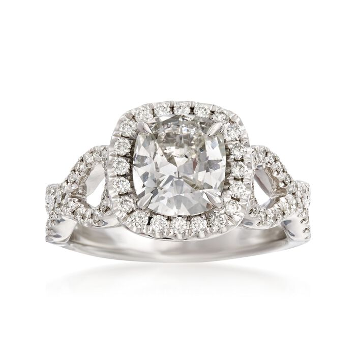 Henri Daussi 1.97 ct. t.w. Certified Diamond Engagement Ring in 18kt White Gold
