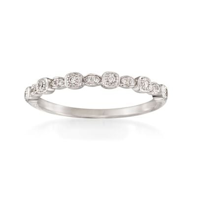 """ALOR """"Flamme Blanche"""" .10 ct. t.w. Diamond Ring in 18kt White Gold, , default"""