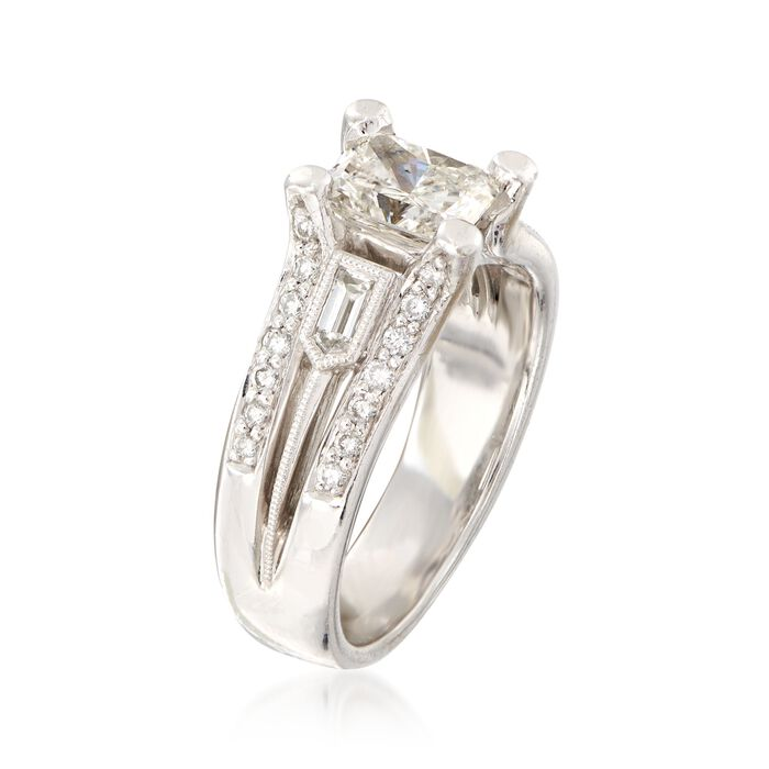 C. 2000 Vintage 1.73 ct. t.w. Certified Diamond Ring in 18kt White Gold