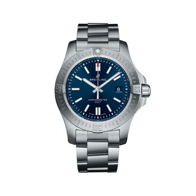 Breitling Colt Automatic Men's 44mm Stainless Steel Watch - Blue Dial, , default