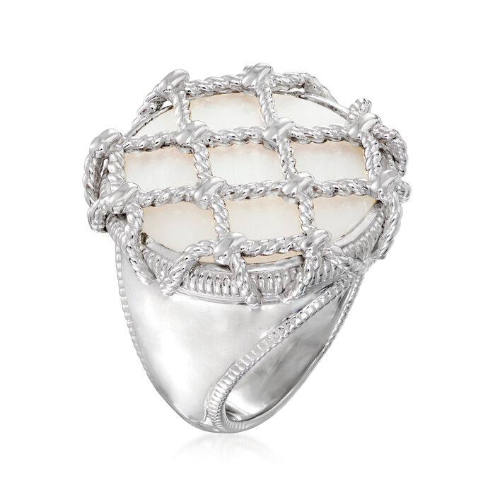 """Judith Ripka """"Isola"""" Mother-Of-Pearl Ring in Sterling Silver"""