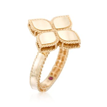 """Roberto Coin """"Princess"""" 18kt Yellow Gold Flower Ring"""
