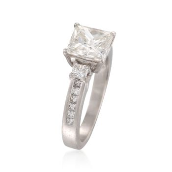 C. 2000 Vintage 2.57 ct. t.w.  Diamond Ring in Platinum. Size 5.75, , default