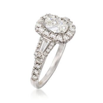 Henri Daussi 1.88 ct. t.w. Certified Diamond Engagement Ring in 18kt White Gold