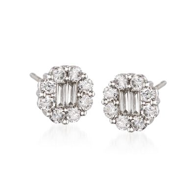 Gregg Ruth .90 ct. t.w. Diamond Stud Earrings in 18kt White Gold