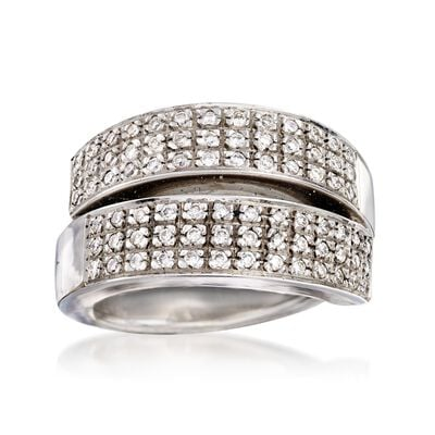 C. 1990 Vintage .65 ct. t.w. Pave Diamond Ring in 18kt White Gold, , default