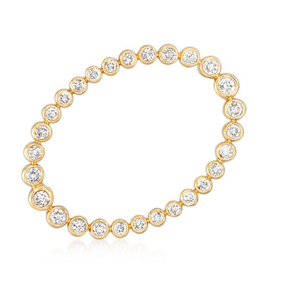 1.00 ct. t.w. Bezel-Set Diamond Pin in 14kt Yellow Gold, , default