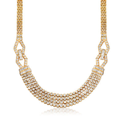 C. 1980 Vintage 11.80 ct. t.w. Diamond Multi-Strand Necklace in 18kt Yellow Gold, , default