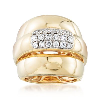 .85 ct. t.w. Pave Diamond Multi-Row Ring in 14kt Yellow Gold, , default