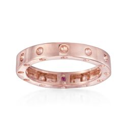 "Roberto Coin ""Pois-Moi"" 18kt Rose Gold Dotted Ring, , default"