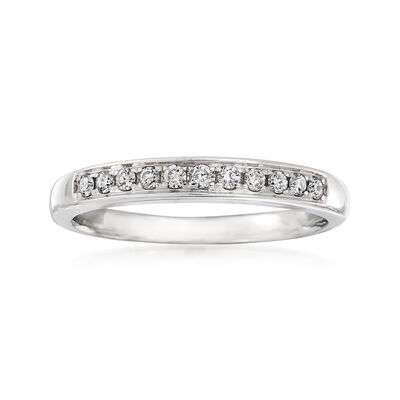 C. 1990 Vintage .14 ct. t.w. Diamond Ring in 14kt White Gold
