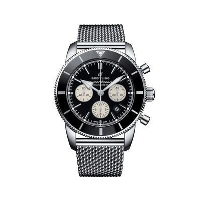 Breitling Superocean Heritage II B01 Chronograph Men's 44mm Stainless Steel Watch - Black Dial, , default