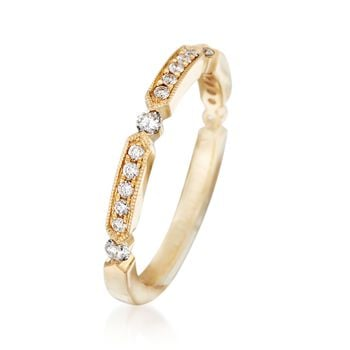 Henri Daussi .25 ct. t.w. Diamond Wedding Ring in 14kt Yellow Gold, , default