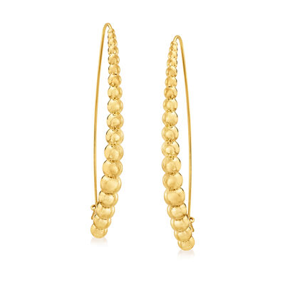 Roberto Coin 18kt Yellow Gold Graduated Threader Earrings