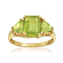 C. 2000 Vintage 2.22 ct. t.w. Peridot Ring in 14kt Yellow Gold, , default