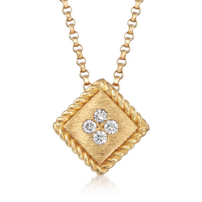 "Roberto Coin ""Palazzo Ducale"" Diamond-Accented 18kt Yellow Gold Necklace, , default"