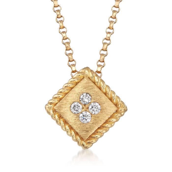 """Roberto Coin """"Palazzo Ducale"""" Diamond-Accented 18kt Yellow Gold Necklace"""