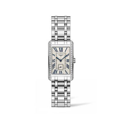 Longines Dolcevita Women's 23x37mm .55 ct. t.w. Diamond Watch in Stainless Steel