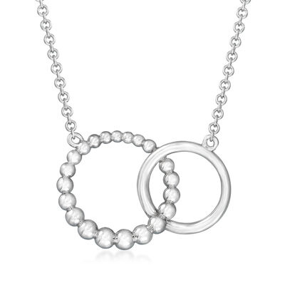 Gabriel Designs Sterling Silver Double-Circle Necklace