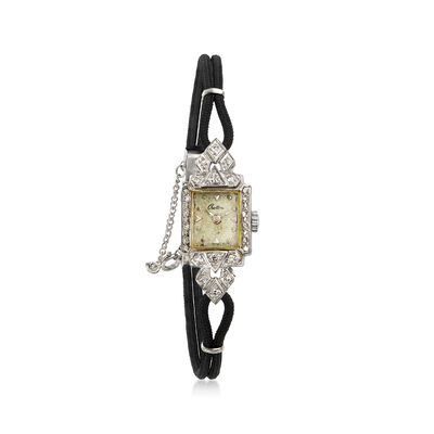 C. 1950 Vintage Croton Women's 14mm Mechanical Watch in 14kt White Gold, , default