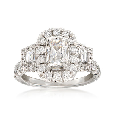Henri Daussi 2.10 ct. t.w. Certified Diamond Engagement Ring in 18kt White Gold, , default