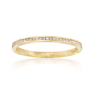 Henri Daussi .10 ct. t.w. Diamond Wedding Ring in 18kt Yellow Gold, , default