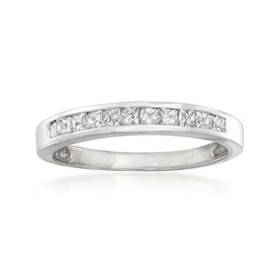 C. 1990 Vintage .55 ct. t.w. Channel-Set Diamond Ring in 14kt White Gold