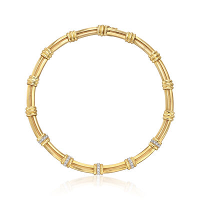C. 1995 Vintage Tiffany Jewelry 1.20 ct. t.w. Diamond Station Necklace in 18kt Yellow Gold , , default