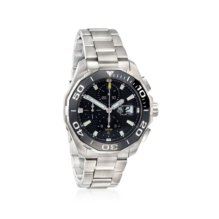 TAG Heuer Aquaracer 43mm Men's Stainless Steel Auto Chronograph Watch with Black Dial, , default